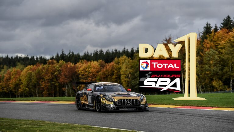 First day of the Total 24 Hours of Spa