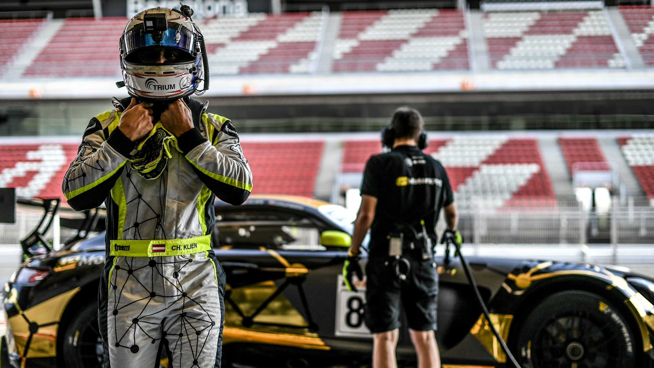 Christian Klien before the first test at Barcelona Catalunya track